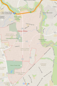 map of Chevy Chase