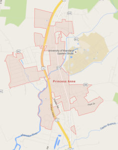 Map of Princess Anne