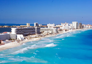 Picute of the Blue Water In Cancun Mexico